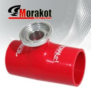 Auto 2 5 Inch Bov Blow Off Valve Silicone Coupler Pipe Adapter Sqv Ssqv Red