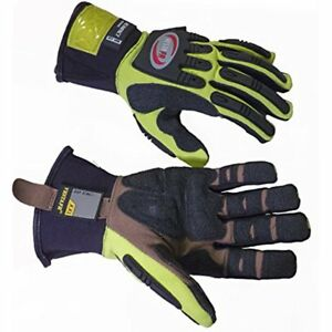 Kevlar Reinforced Safety Work Gloves High Visibility Heavy Duty Impact 2xl