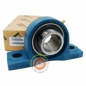 2 Pieces 1 1 2 Pillow Block Bearing Ucp208 24 Solid Base P208