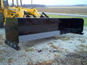 Linville 10 Snow Pusher Loader Snowplow Backhoe Steel Edge Rubber Available