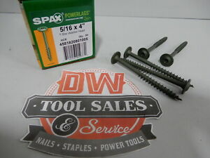 Spax Screws Made In Usa 5 16 X 4 Washer Head Star Drive Exterior
