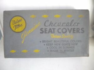 Vtg 1949 Chevrolet Styline Empty Seat Cover Box Only Display Gm Accessories