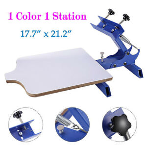 Single Color 1 Station Silk Screen Printing Machine Diy T shirt Press Printer