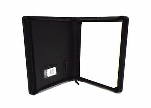 Black Leather Presentation Folder Portfolio With Personalisation Option It08 1