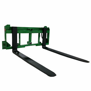 Ua Made In The Usa 36 Pallet Fork Hay Bale Spear Attachment W Hitch Fits Jd