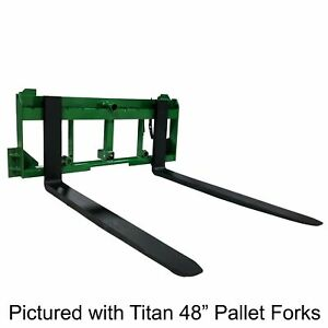 Ua Made In The Usa 42 Pallet Fork Hay Bale Spear Attachment W Hitch Fits Jd