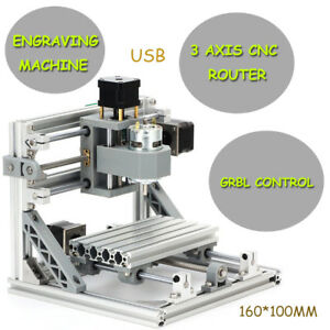Mini 3 Axis Engraving Machine 1610 Usb Cnc Router Milling 500mw Laser Engraver