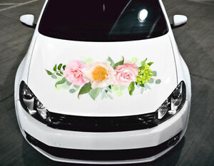 Flowers Car Sticker Car Hood Color Sticker Graphics Decals Any Vehicle Auto H1