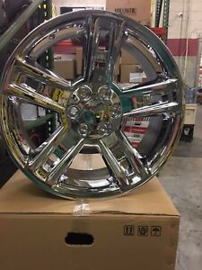 4 New 22x9 Oe Replica 2017 Chevy Tahoe Wheels Chrome Gmc Yukon Chevrolet