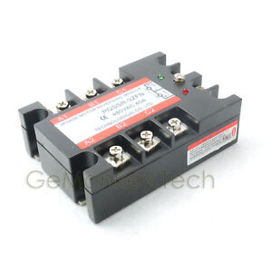 New 3 phase Solid State Relay Ssr 4 32vdc 40 480vac 40a Motor Revrsing Control