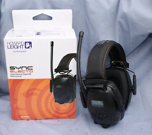 Sync Electo Radio Earmuffs With Voice Pickup Mic By Honeywell Howard Leight