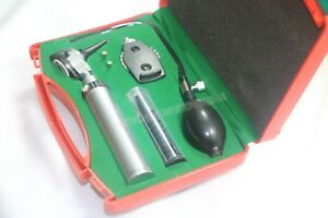 new Ent Diagnostic otoscope ophthalmoscope Set With Insufflator Bulb And Tube