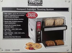 New Waring Cts1000b Commercial Electric Countertop Conveyor Toaster
