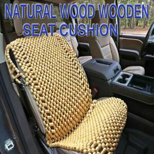 Zone Tech Natural Wooden Beaded Car Seat Chair Cover Massage Cool Cushion