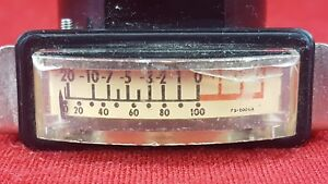 Vintage Triplett Vu Meter Level Indicator Tested