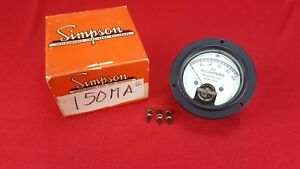 Vintage Nos Simpson 25r Mr36w150dcmar Dc Milliamperes 0 150 Panel Mount Meter