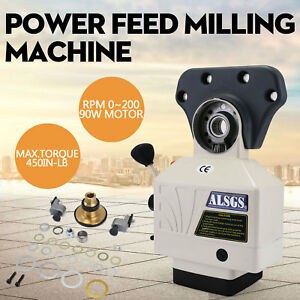 Al 310s X axis Power Feed Milling Machine 150in lb Peak 0 210rpm 0 4 37 4 Ipm
