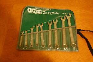 Allen Armstrong 9pc Sae Box Open End Combination Wrench Set Nib