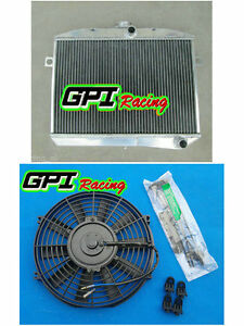Aluminum Radiator fan Volvo Amazon P1800 B18 B20 Engine Gt M t 59 70 60