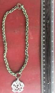 Ancient Artifact Viking Chain Necklace W Sigurd Gripping Beast Pendant Vk 78