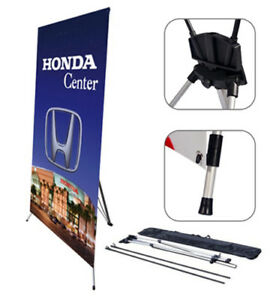 X Banner Stand Tripod Trade Show Display Medium 32 x72 10 Pcs
