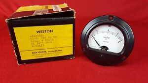 Vintage Nos Weston Model 304 Ac Volts 0 8 Panel Mount Meter