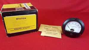 Vintage Nos Weston Model 201 Dc Microamperes 0 100 Panel Mount Meter