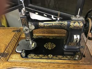 White Sewing Machine Vintage 1890s