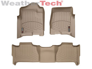 Weathertech Floorliner Floor Mats For Tahoe yukon yukon Xl 1st 2nd Row Tan