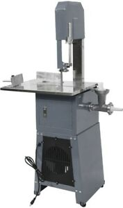 Electric 550w Professional Stand Up Butcher Meat Band Saw Grinder Sausage Gray