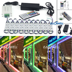 10~100FT 5050 SMD 3 LED Module Club Bar STORE FRONT Window Light Sign Lamp Kit