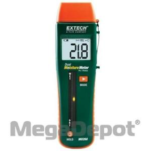 Extech Mo260 Wood building Pin pinless Moisture Meter