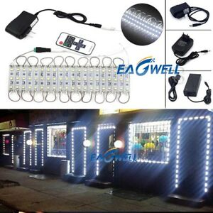 Cool White 10~100FT 5050 SMD 3 LED Module STORE FRONT Window Light Sign Lamp Kit