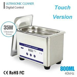 0 8l Ultrasonic Cleaning Machine Cleaner Stainless Steel Industry Timer Silver