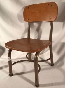 Vintage Irwin Seating Company Old School Metal Wood Children S Chair