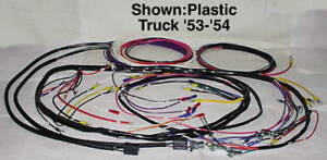 Wiring Harness Main Alternator Plastic Covered 1953 1954 Chevy Truck