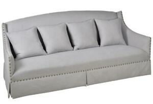 Modern Light Grey Fabric Upholstery Living Room Sofa wPillows A