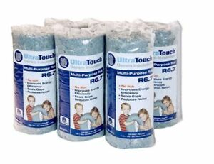 6 pack Denim Insulation Fiberglass Alternative Multi purpose Roll 16 In X 48 In