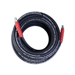 High Pressure Hot Water Hose 3 8 4000 Psi Wire Steel Braided 50 Feet Sae 100r1