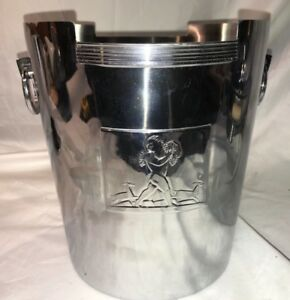 Chase Art Deco Chrome Rockwell Kent Ice Wine Bucket Bacchus Machine Age Icon Mcm