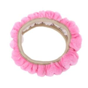 Soft Elastic Winter Warm Plush Steering Wheel Cover Auto Car Accessory Pink