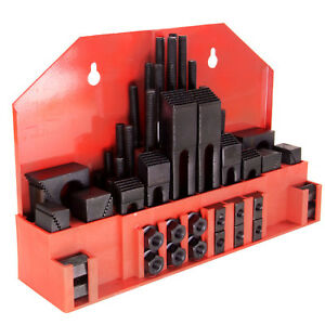 Hfs 58pc 7 16 Slot 3 8 Stud Hold Down Clamp Clamping Set Kit Bridgeport Mill
