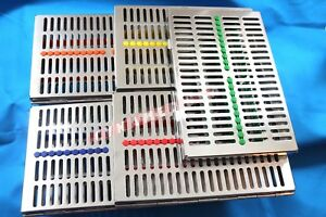 5 German Dental Autoclave Sterilization Cassette Rack Box Tray For 20 Instrument