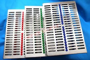 German 3 Dental Sterilization Cassette Rack Tray Box For 20 Surgical Instruments