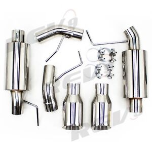 Rev9 Flowmaxx Exhaust Axle Back Exhaust Kit For 05 10 Ford Mustang V8 Gt Gt500