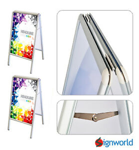 Double Side Sidewalk A Frame Sandwich Sign Board With Protective Covers 2 Pcs
