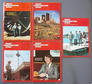 Orig Lot Of Five Heavy Construction News Magazines Toronto Cn Tower 1972 73 74