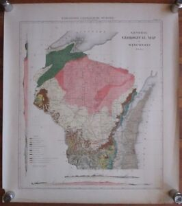 1881 General Geological Map Of Wi Wisconsin Geological Survey Map