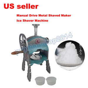 Manual Drive Metal Shaved Ice Snow Cone Maker Aluminum Body Ice Shaver Machine