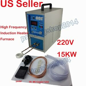 15kw High Frequency Induction Heater Furnace 220v 30 80khz
